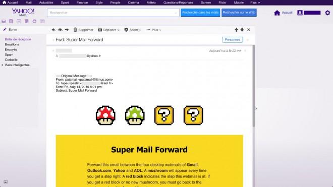 Rendu dans Yahoo